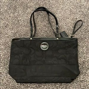 Black large Coach purse